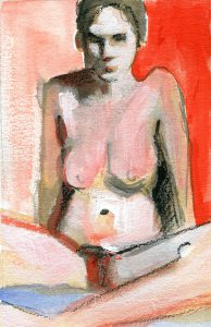 Woman In Red Box by Denise Souza Finney