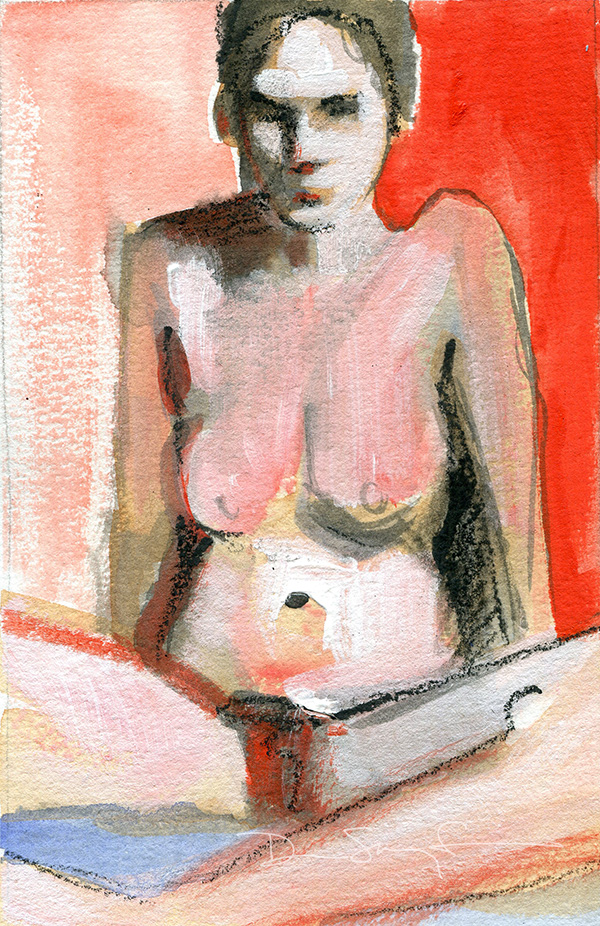 Woman In Red Box