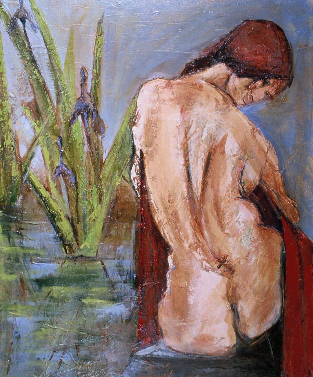 The Iris Pond by Denise Souza Finney
