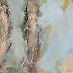 Abstract figure painting by Denise Souza Finney