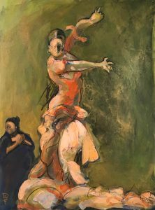 Flamenco Dancer And Singer by Denise Souza Finney