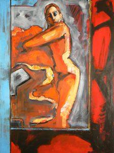 Orange Flamenco by Denise Souza Finney