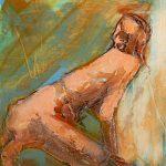 Series I Figure Kneeling by Denise Souza Finney