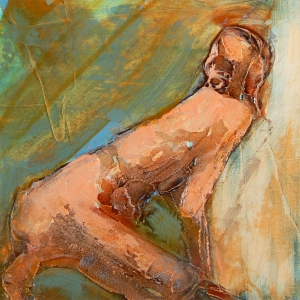 Series I Figure Kneeling by Denise Souza Finney