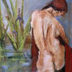 Painting of nude female figure by iris pond by denise souza finney