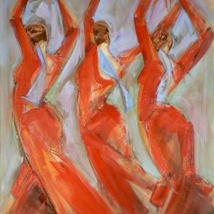 Tres Alegrias Rojos by Denise Souza Finney