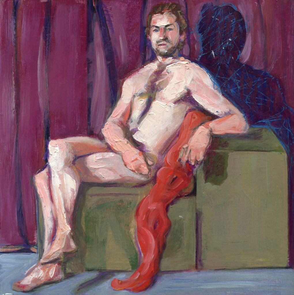 Male figure painting by Denise Souza Finney