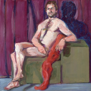 Male figurative figure painting by Denise Souza Finney