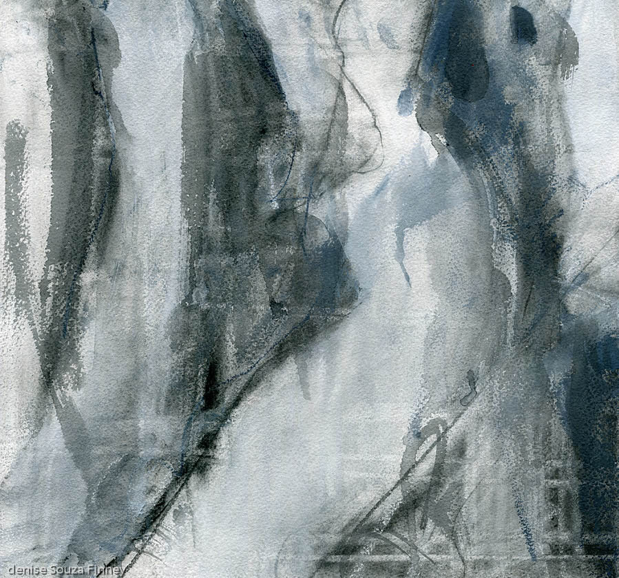 image of Abstract With Figure painting by Denise Souza Finney