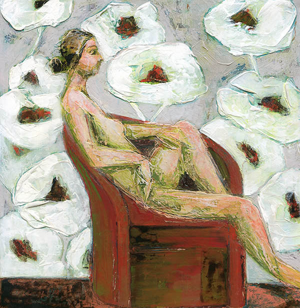 Figure With Poppies I by Denise Souza Finney