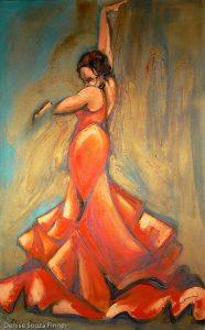 Red Flamenco by Denise Souza Finney