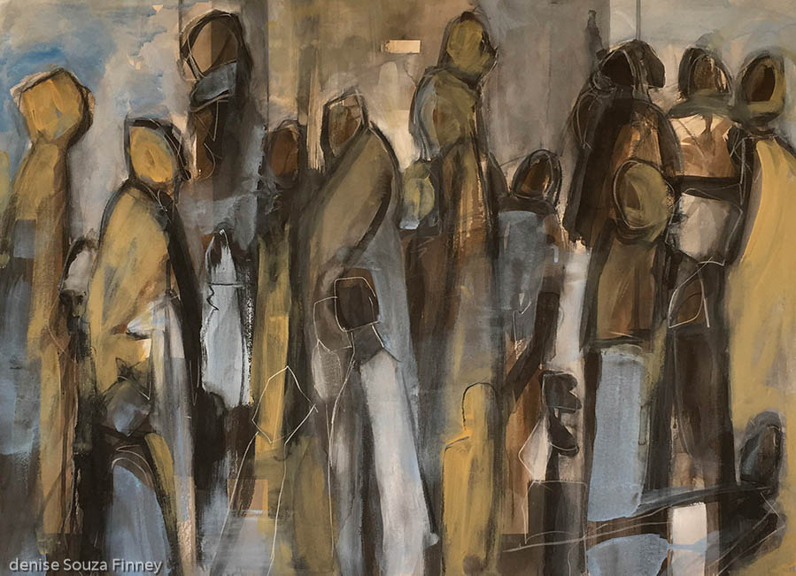 Where Are We Going original figurative painting by Denise Souza Finney