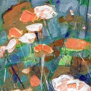 Kari's Poppies painting by Denise Souza Finney