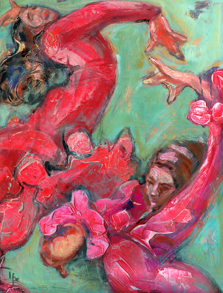Flamenco painting by Denise Souza Finney