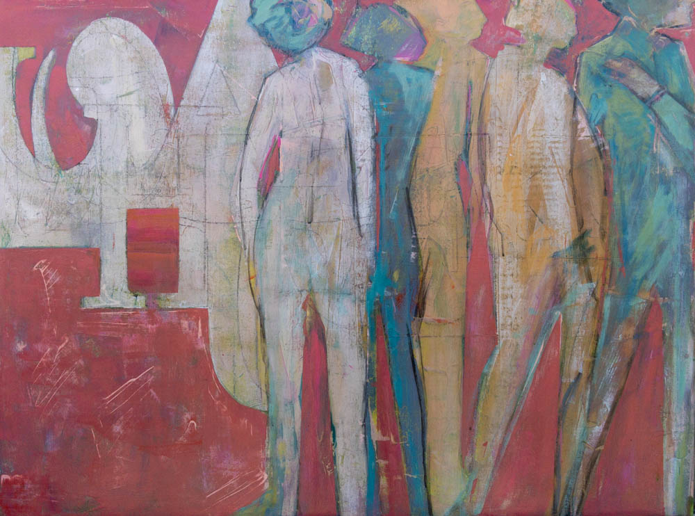 image of painting titled Chatter by Denise Souza Finney