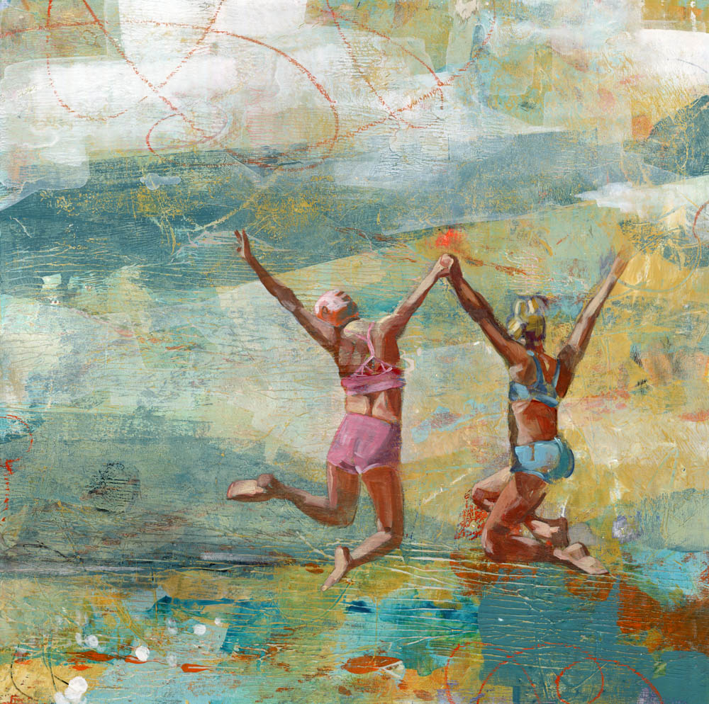 image of painting titled disappearing waters by artist denise souza finney